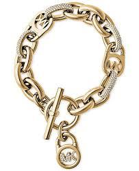 crystal link bracelet images Michael kors gold tone link bracelet with pav crystal accents tif