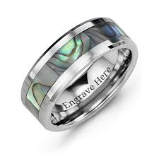 mens tungsten wedding bands s tungsten rings personalized for him jewlr