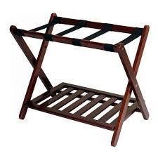 luggage racks for bedroom folding solid wood luggage rack with shelf at brookstonebuy now