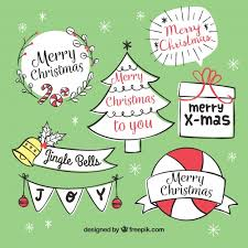 chrsitmas labels with style vector free