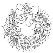 dibujos colorear corona navidad flores seda es