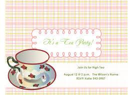 invitations free tea party invitations free template