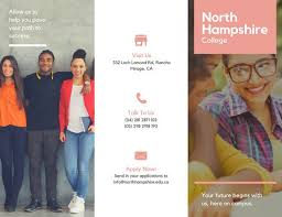 college brochure templates canva