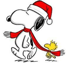 snoopy tree santa clipart