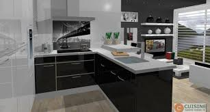 cuisine noir laqué pas cher cuisine equipee noir laque pas cher cuisine moderne en u cuisines