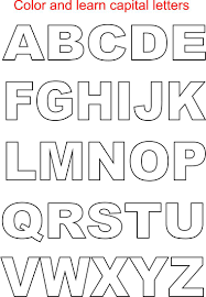 capital letters coloring printable kids alphabets