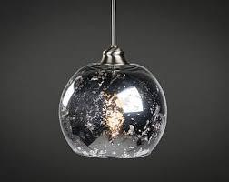 Mercury Glass Pendant Light Mercury Glass Pendant Light Fixture Edison Bulb