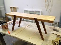 custom butcher block coffee table by d geoffrey patterson natural