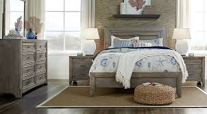 Light Wood Bedroom Sets Driftwood 7 Pc King Panel Bedroom King Bedroom Sets