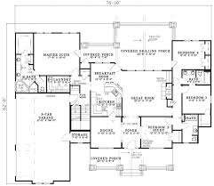 craftsman style house floor plans craftsman house plan 7 bedrooms 5 bath 4693 sq ft plan 12 1110
