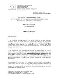 European Ippc Bureau European Commission Bref Cement Lime Revset05 Air Pollution Cement