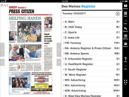 des moines register print on the app store