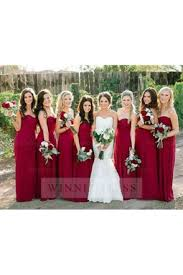 burgundy bridesmaid dresses under 100 long burgundy bridesmaid