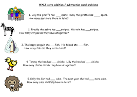 ks1 addition u0026 subtraction word problems by barnes24 teaching
