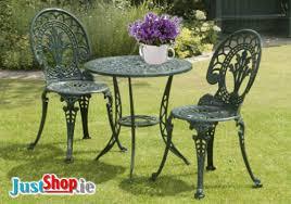 Aluminium Bistro Chairs Cast Aluminium 3 Bistro Set Green Cast Aluminium 3