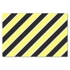 black and white striped tissue paper black yellow and white striped tissue paper craft supplies diy