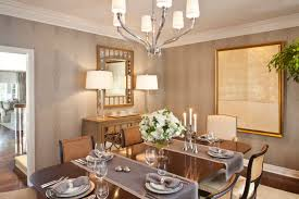 decorating traditional dining room design with glass dining table