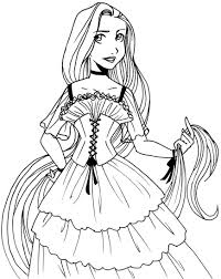 tangled coloring pages within princess rapunzel colouring pages