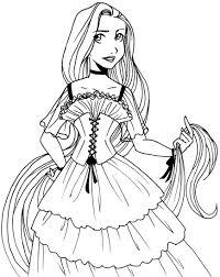 disney princess rapunzel coloring pages at colouring shimosoku biz