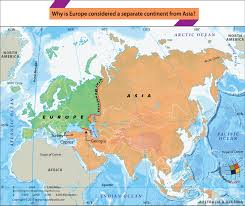 africa e asia mappa why is europe considered a separate continent from asia answers