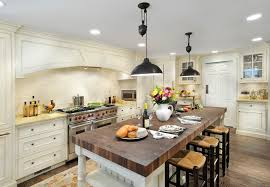 glamorous butcher block island in traditional wilmington with