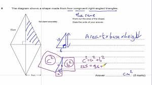 gcse maths revision exam paper practice pythagoras theorem youtube