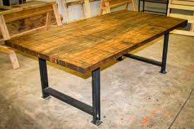 reclaimed wood plank desk best home furniture decoration