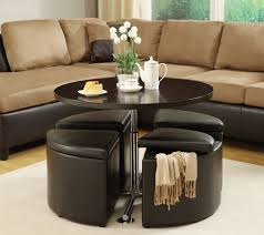 black leather storage ottoman with tray 44 unforgettable round leather ottoman with storage image ideas