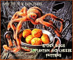 just dip it in chocolate spider eggs halloween plantain and
