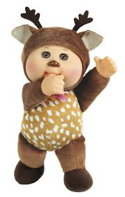 cabbage patch kids farm friends 9 inch cutie doll sage deer
