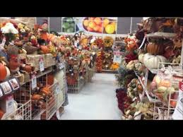 autumn fall thanksgiving aisle in stores usa