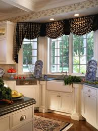 black valance kitchen window treatment ideas