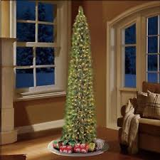artificial tree green shelton slim narrow 7 ft stand 300