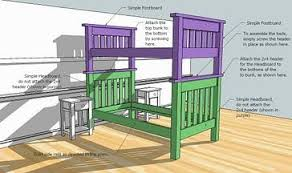 Plans Build Bunk Bed Ladder by Ana White Simple Bunk Beds Diy Projects