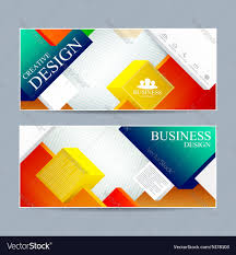 web banner design modern template cover layout vector image