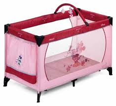 Baby Camping Bed Hauck Dream N Play Disney Original Minnie Travel Cot Amazon Co Uk