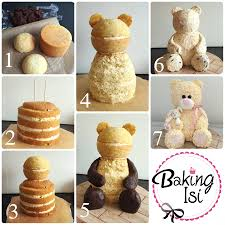 making of how to tutorial 3d teddy bear cake bär torte cake