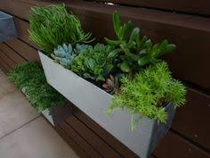 Modern Hanging Planters by Metal Hanging Planter Box Horizontal Fence Planter Succulent
