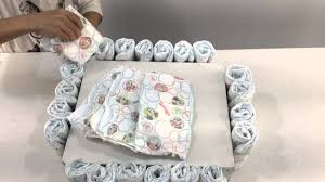 how to make a bassinet diaper cake youtube
