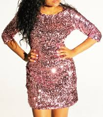 plus size perfectionist pink sparkle long sleeve sequin dress