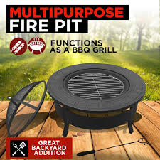 round multipurpose outdoor fire pit backyard outbaxcamping