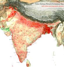 Population Density Map Of Canada by India Railway Map With Population Density Travel Inspiration