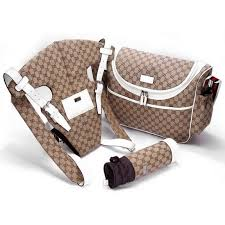 Gucci Crib Bedding Gucci Baby Set Bag With Baby Carrier Bottle Holder White