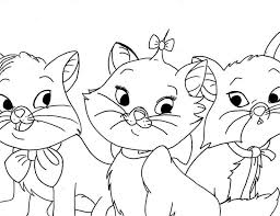 aristocats kittens coloring pages marie cat coloring pages
