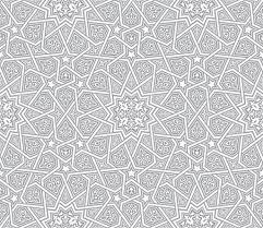 islamic ornament grey vector background stock vector