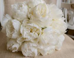 Artificial Peonies Ivory Peony Etsy