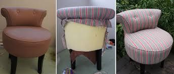 comment retapisser un canapé relooking avant après d un fauteuil coiffeuse tapissier décorateur
