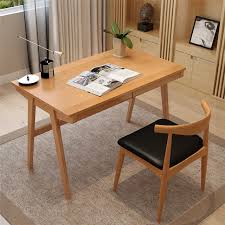 Japanese Desk Pure Solid Wood Desk With Drawer 1 21 M Japanese Style Computer