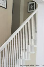Stripping Paint From Wood Banisters How To Paint Stairwells My Frugal Adventures