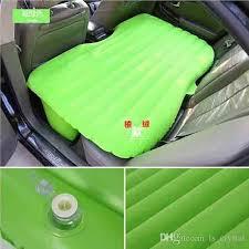 portable folding car air mattress with air pillow inflatable air